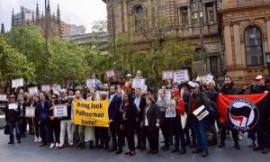 Протест в Сидни в подкрепа на Джок Полфрийман