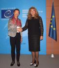 Вицепрезидентът разговаря с ръководителите на Съвета на Европа и на неговата Парламентарна асамблея