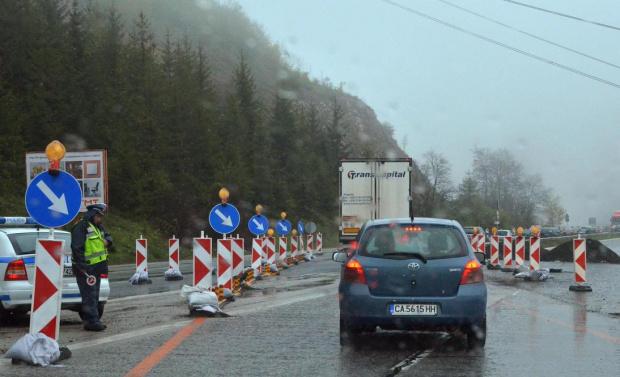 Временно движението при км 15 на магистрала