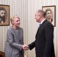 Румен Радев прие посланика на Великобритания Ема Хопкинс