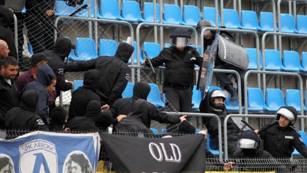 Мелемежду привърженици на Левски и ЦСКА разтресе Русе. Той е