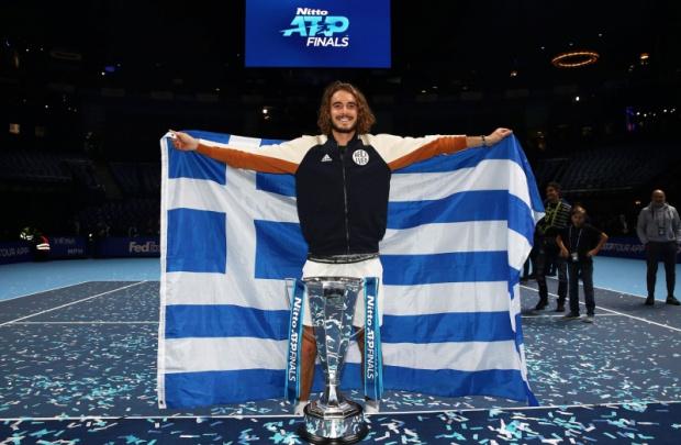 Стефанос Циципас успя да спечели снощи най-голямата титла в своята
