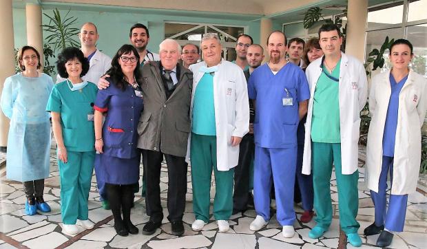 """Пациентът с първата белодробна трансплантация, извършена в България, бе изписан от УБ """"Лозенец"""""""
