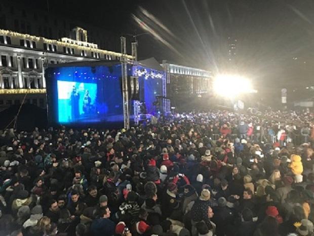 """На 31 декември 2019 г. на площад """"Княз Александър I"""""""