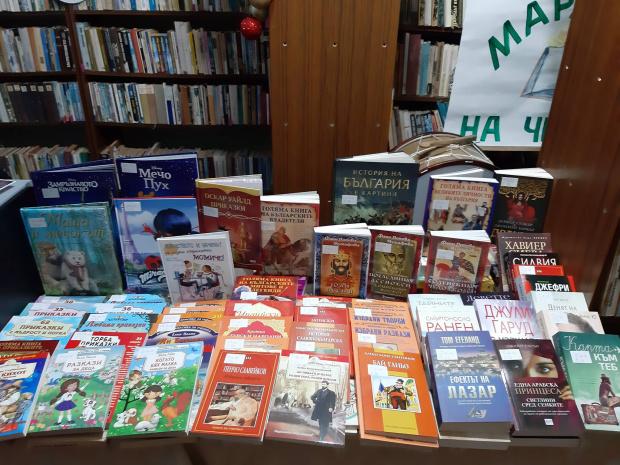 С поредното сериозно попълнение от книги започва новата година читалището