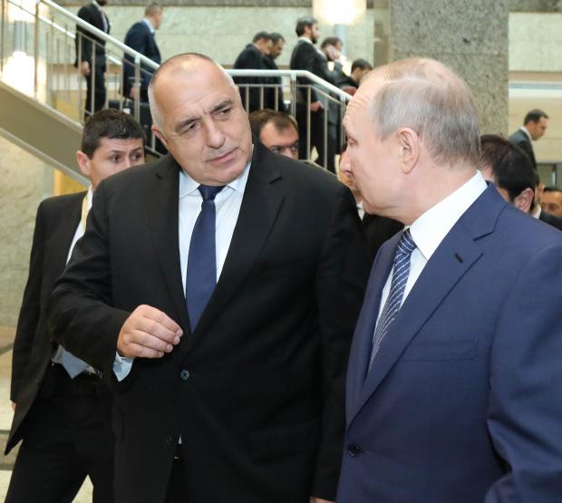 Премиерът Бойко Борисов разговаря с президента на Русия Владимир Путин,