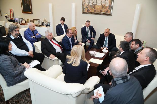Министър-председателят Бойко Борисов провежда среща с представители на Конфедерацията на