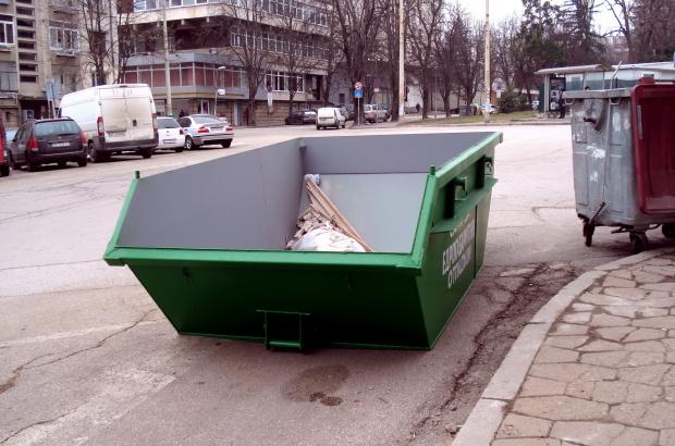 Контейнери за едрогабаритни отпадъци са поставени в различни части на