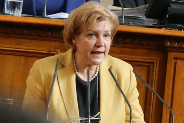 Председателят на Бюджетната комисия Менда Стоянова е внесла на 23