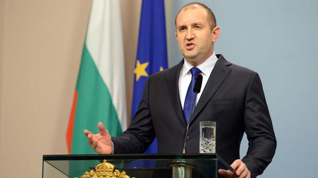 Президентът Румен Радев направи обръщение към народа днес от Гербовата