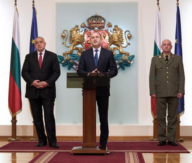 Изявление на президента Румен Радев след среща с министър-председателя и
