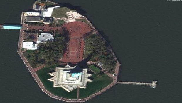 Сателитните снимки са заснели забележителности, места за отдих и летища