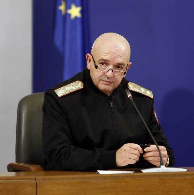 Ген. Венцислав Мутафчийски, шеф на Националния щаб за борба с