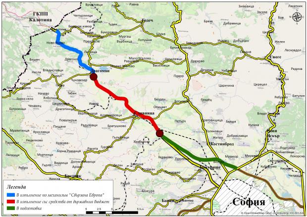 До края на август движението по 8-километров участък от път