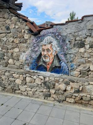Стефан Данаилов оживя на дувар в столицата на виното