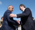 Борисов посрещна Вучич със шпалир, после го качи на хеликоптер и му показа как от Белград, през Бургас - до Истанбул ще се стига без нито 1 светофар ВИДЕО