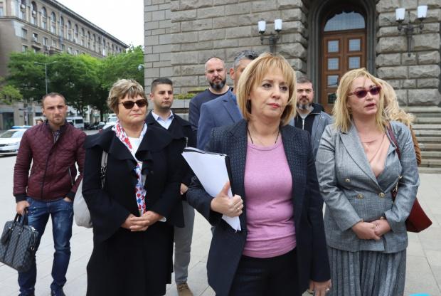 """Лидерът на """"Изправи се.БГ"""" Мая Манолова внесе в Народното събрание"""