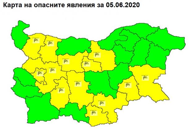 Според прогнозите на Националния институт по метеорология и хидрология предстои