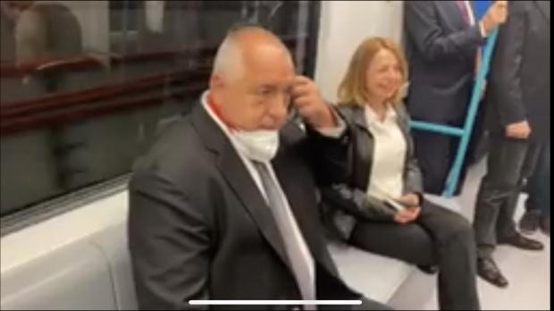 Премиерът Бойко Борисов инспектира третия лъч на метрото в София,който