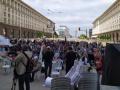 """Протестиращите блокираха триъгълника на властта, скандират """"Бойко, чао!"""" (ВИДЕО)"""