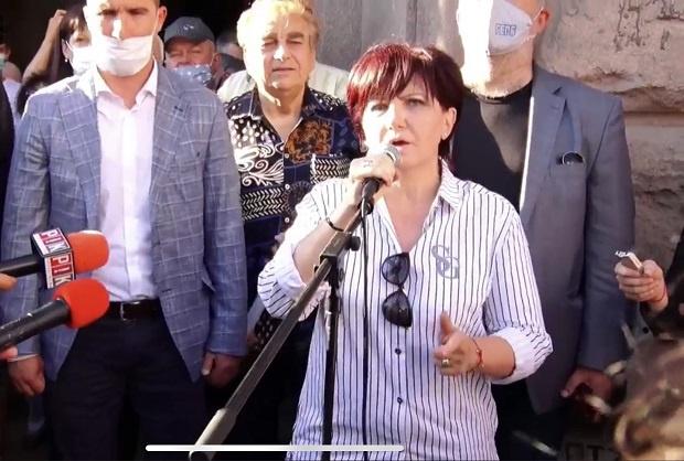 Контрапротест на ГЕРБ се провежда и в центъра на София