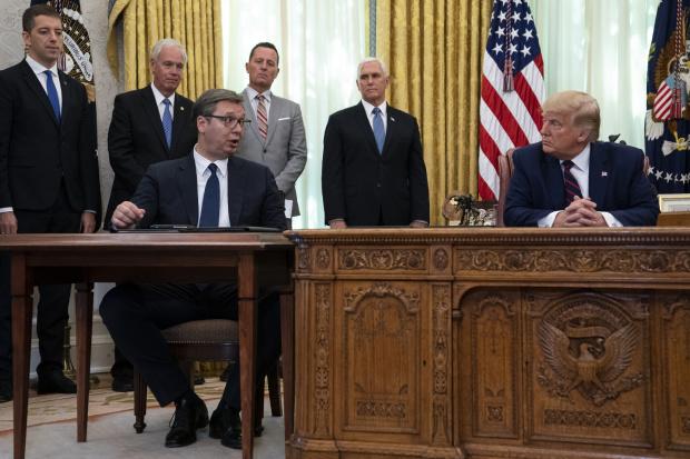 Президентът на САЩ Доналд Тръмп заяви, че лидерите на Сърбия