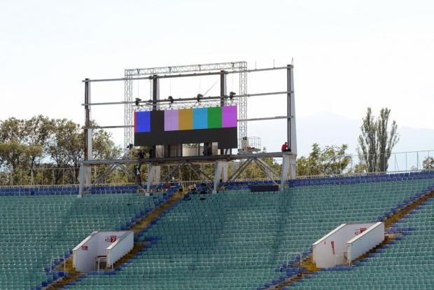 Строги мерки за влизане на мач на националния стадион и максимум12824 зрители