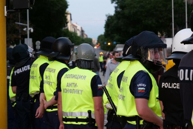 Щафетният полицейски протест се пренесе в Югозападна България. Служителите на