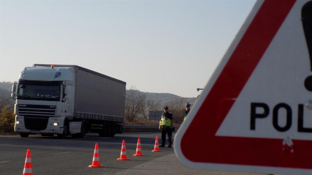 Протест на превозвачите на турската граница. Представители на българската и