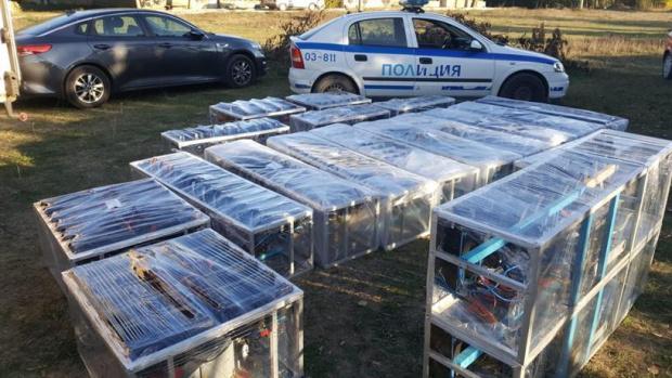 Сливенски ченгета разбиха поредната ферма за криптовалута