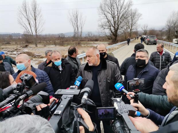 Борисов в Хаджидимово: Поехме ангажимент към хората - мостът е готов само за три дни