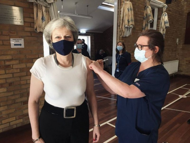 Бившата британска министър-председателка Тереза Мей се е ваксинирала срещу коронавирус.