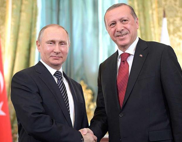 Президентът на Русия Владимир Путин и турският му колега Реджеп