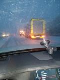 АМ Хемус е покрита със сняг, стигна се до верижно меле