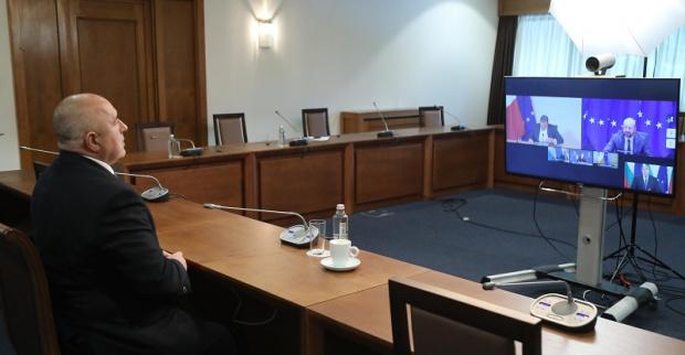 Министър-председателят Бойко Борисов проведе видеоконферентен разговор с председателя на Европейския