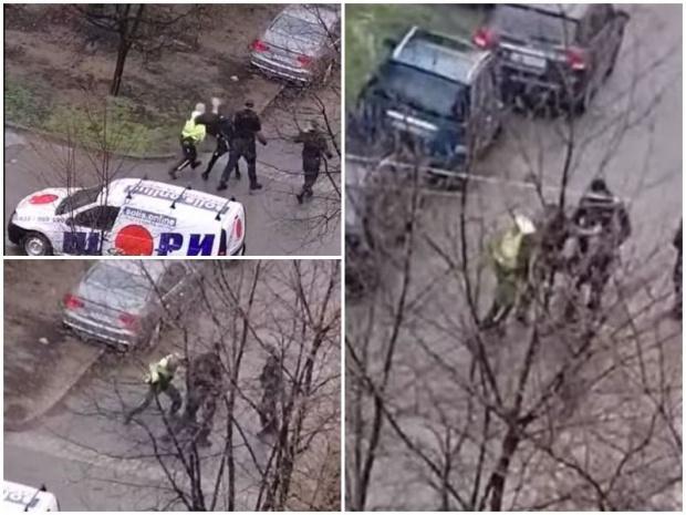 ВИДЕО Родната полиция ни пази! Униформени брутално бият с палки беззащитен мъж след гонка в Казанлък