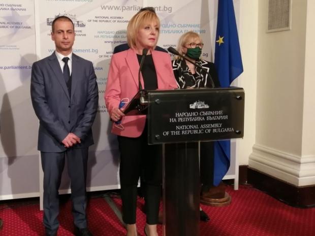 """Председателят на парламентарната група """"Изправи се! Мутри вън!"""" Мая Манолова"""