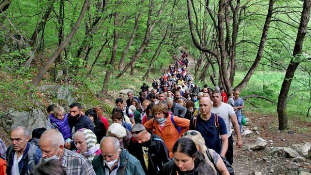 Стотици на шествие с чудотворната икона от Бачковския манастир