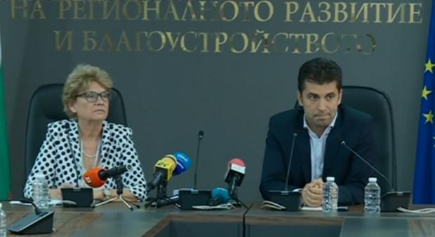 Правим съвместен брифинг с министъра на регионалното развитие Виолета Комитова,