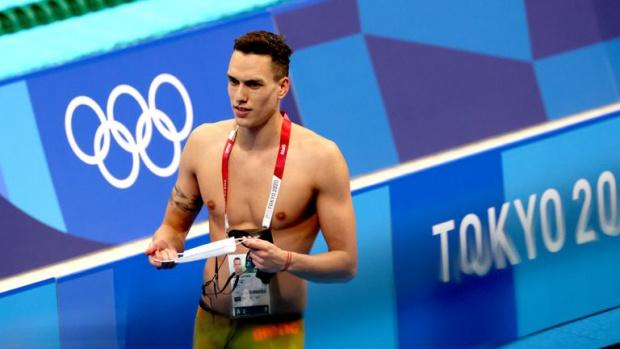 Калоян Левтеров остана последен в сериите на 200 метра гръб на Олимпиадата