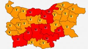Утре - адска жега! ЧЕРВЕН код за опасно време в 9 области, в останалите - оранжев!
