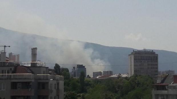 Голям пожар в София. Горятсухи тревив столичния квартал