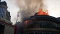 """Пожар в центъра на Благоевград, гори """"Купола"""""""