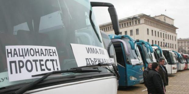 Протест на транспортния бранш спира автобусите на 28 септември